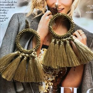 Gold earrings Chaquira